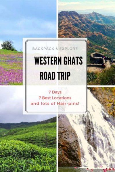Ever considered going on a 7-day long Western Ghats road trip? Scenic roads, lush green mountains, castles, temples and much more on this amazing journey. You can also pick one of the 7 road trips combined to form the best itinerary of Western Ghats ever. #travel #western Ghats