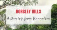 Horsley Hills From Bangalore